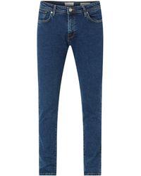 SELECTED Slim Fit Jeans aus Organic Cotton und Elasthan Modell 'SLHSLIM' - Blau