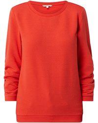 Tom Tailor Denim Sweatshirt mit Wabenmuster - Rot