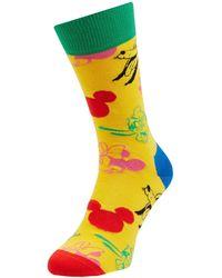 Happy Socks Socken mit Disney©-Print - Gelb