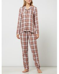 Tommy Hilfiger Pyjama Met Ruitpatroon - Roze