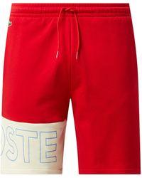 Lacoste Sweatshorts mit Logo - Rot