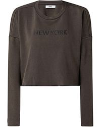 ONLY - Cropped Sweatshirt mit City-Print Modell 'Haley' - Lyst