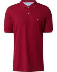 Fynch-Hatton Poloshirt aus Supima®-Baumwolle - Rot