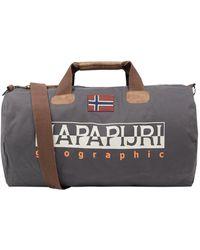 Napapijri Sporttasche aus Baumwolle - Grau