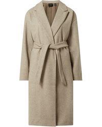 Vero Moda Mantel mit Taillengürtel Modell 'Fortune' - Grau