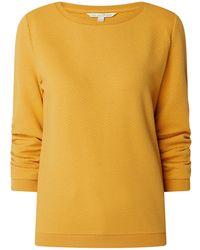 Tom Tailor Denim Sweatshirt mit Wabenmuster - Gelb