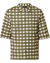 JOSEPH Comfort Fit Freizeithemd aus Viskose-Baumwoll-Mix - Gelb