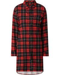 DKNY Pyjama aus Flanell - Rot