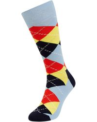 Happy Socks Socken mit Argyle-Muster - Blau