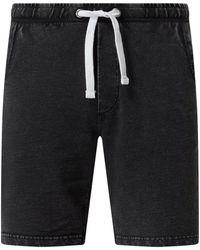 Redefined Rebel Shorts aus Baumwolle Modell 'Poulter' - Schwarz