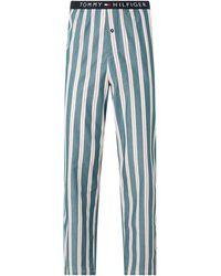 Tommy Hilfiger Pyjamahose aus Bio-Baumwolle - Grün
