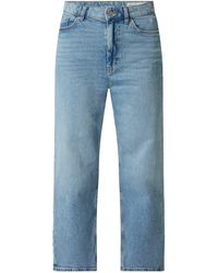 Edc By Esprit Cropped Straight Fit Jeans mit Stretch-Anteil - Blau