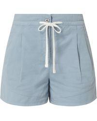 Jake*s Casual Shorts aus Baumwolle - Blau