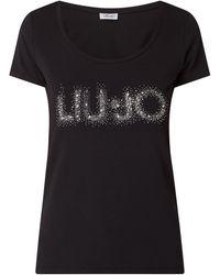 Liu Jo T-Shirt mit Logo-Applikation - Schwarz