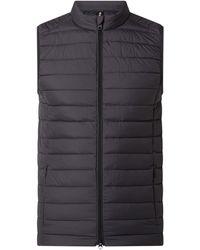 Ecoalf Steppweste mit Nahtreißverschlusstaschen - Grau