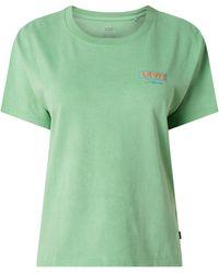 Levi's T-shirt Met Met Rubber Beklede Logoprint - Groen