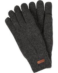 Barts Handschuhe aus Lammwolle Modell 'Haakon' - Grau