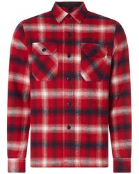 Schott Nyc Hemdjacke aus Flanell Modell 'Griffin' - Rot