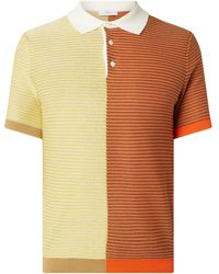 Pringle of Scotland Poloshirt mit Seide-Anteil - Gelb