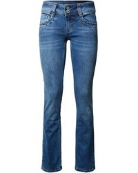 Pepe Jeans - Straight Fit Jeans mit Stretch-Anteil Modell 'Gen' - Lyst