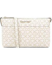 Calvin Klein Crossbody Bag mit Logo-Muster - Weiß