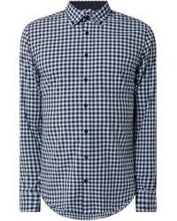 Seidensticker Slim Fit Business-Hemd aus Baumwolle - Blau