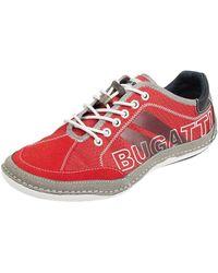 Bugatti Sneaker aus Textil Modell 'Canario' - Rot