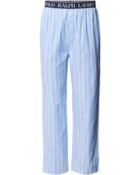 Polo Ralph Lauren Pyjama-Hose aus Baumwolle mit Streifenmuster - Blau
