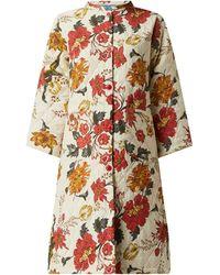 Lolly's Laundry Steppmantel mit floralem Muster Modell 'Boris' - Weiß