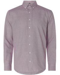 Eterna Regular Fit Business-Hemd aus Baumwolle - Lila