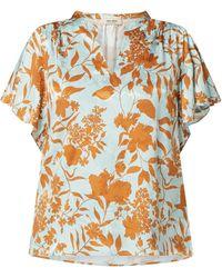 Mos Mosh Blusenshirt mit floralem Muster Modell 'Renata' - Grün