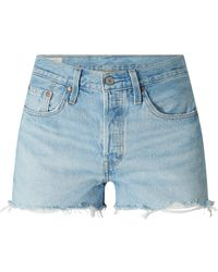 Levi's Jeansshorts aus Baumwolle Modell '501' - Blau