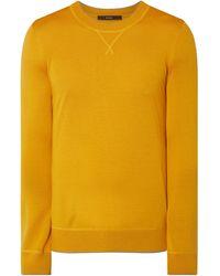 Windsor. Pullover mit Seide-Anteil Modell 'Nando' - Gelb