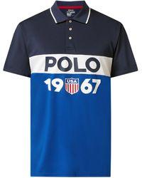 Polo Ralph Lauren Poloshirt mit Logo-Print - Blau