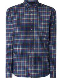 Christian Berg Men - Regular Fit Flanellhemd aus Baumwolle - Lyst