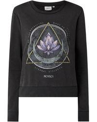 ONLY Sweatshirt mit Print Modell 'Lucinda' - Grau