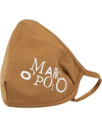Marc O'polo Mund-Nase-Maske mit Print - Braun