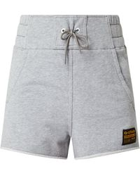 G-Star RAW High Waist Sweatshorts mit Logo-Aufnäher - Grau