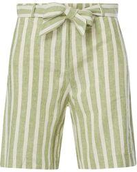 Jake*s Casual Shorts aus Leinen-Viskose-Mix - Grün