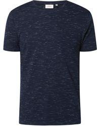 s.Oliver RED LABEL Regular Fit T-Shirt in Melange-Optik - Blau