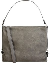 Tom Tailor Hobo Bag in Leder-Optik - Grau