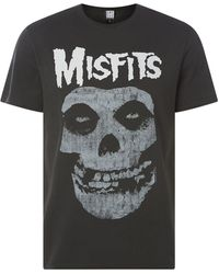 Amplified T-Shirt mit Band-Print Modell 'Misfits' - Grau