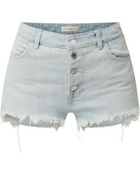 Guess High Waist Jeansshorts aus Baumwolle - Blau