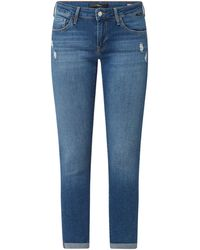 Mavi Cropped Super Skinny Fit Jeans mit Stretch-Anteil Modell 'Lexy' - Blau