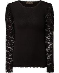 Rosemunde Shirt aus Seide-Baumwoll-Mix Modell 'Baltimore' - Schwarz