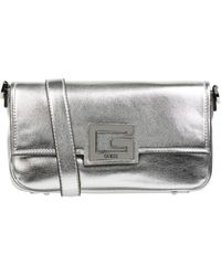 Guess Crossbodytas In Leerlook, Model 'brightside' - Metallic