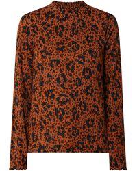 Tom Tailor Denim Shirt mit Allover-Muster - Braun