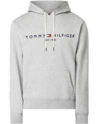 Tommy Hilfiger - Hoodie mit Logo-Stickerei - Lyst