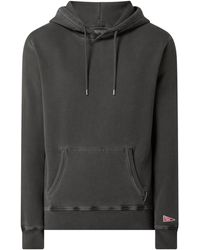Franklin & Marshall Hoodie im Washed-Out-Look - Schwarz