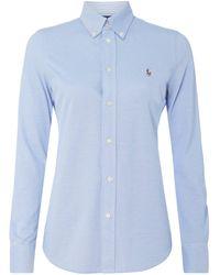Polo Ralph Lauren - Skinny Fit Bluse aus Piqué - Lyst